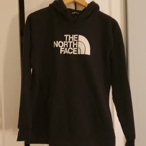 NORTH FACE BLACK HOODED SWEATSHIRT SIZE L